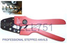 STEPPED ANVILS Ratchet Crimping tool for UN-INSULATED crimp terminals ALT/TN73