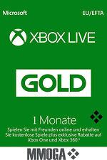 1 Monat Xbox Live Gold Mitgliedschaft Code MS Xbox 360 & Xbox One Ein Monat Key*
