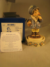 "M I Hummel First Issue ""Little Miss Mail Carrier""/Base Autographed  Hum 2126 MIB"