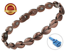 Ladies Copper Magnetic Health Bracelet 17 Magnets Bangle Pain Healing Therapy