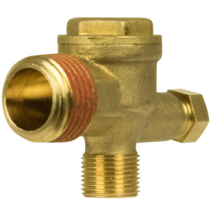 Husky Air Compressor Check Valve Replacement Parts Durable Long Lasting Brass