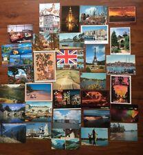 32 Vintage Worldwide Postcards - 1950, 1960, 70s, 80s, 90s