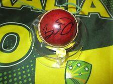 Brett Dorey (Australia) signed Mini Red Cricket Ball - Photo proof  &  C.O.A