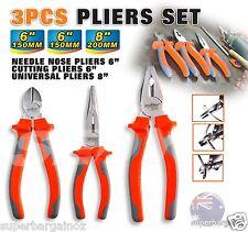 3 Piece Pliers Set Universal Pliers Cutting Pliers Long Nose Pliers 97610