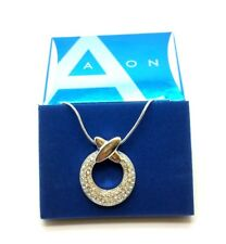 AVON Sliver Plated Pendant Necklace Jewellery Wedding Party Acessories Gift
