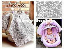 THE WHOLE CABOODLE CARSEAT CANOPY BABY CAR SEAT COVER 5 PC SET NEW ~ BELLE ~