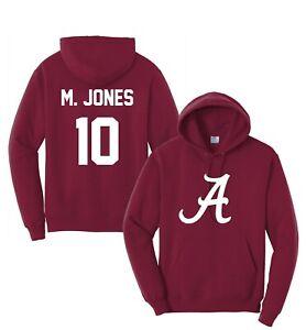 Customized Burgundy Football Hoodie Hoody,Any Name,Jersey,Mac Jones, Alabama