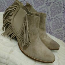 Coconuts By Matisse Lafayette Western Fringed Ankle Boots Booties Womens 9 M
