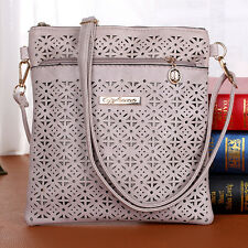 Fashion Women Ladies Casual Messenger Bag Hollow Out Crossbody Bag Shoulder Bags