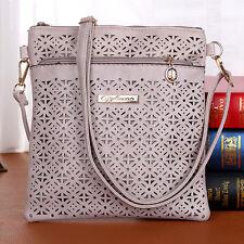 Damen Leder Hollow Tasche Messenger Designer Schulter Tasche Handtaschen Tasche