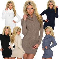 Langarm Damenkleider ohne Muster