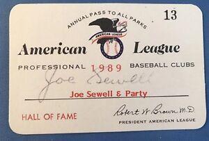 1989 Ken Griffey JR. Debut/First Hit/HR Ticket Pass Joe Sewell Pass Signed