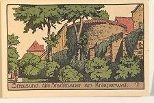 26555 Steindruck Künstler Stein Zeichnung AK Stralsund Schiller-Straße um 1910