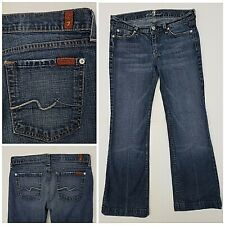 Womens 7 for all mankind size 29 flare leg medium wash blue jeans 5BL12