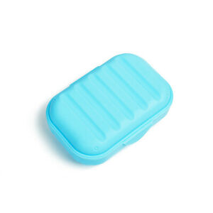 Plastic Soap Dish Holder Seal Storage Box Case Shower Container Travel Portable