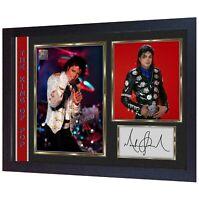 Michael Jackson signed autograph Pop Music Memorabilia FRAMED photo print