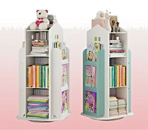 Rotating Book Storage Book Shelf Bookcase Rotating Display Stand Book Organizer