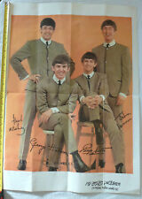 Extremely Rare Beatles 1964 HiBrows Forget-Me-Not Birthday Card Poster Unused