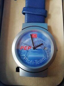 Armbanduhr Deutsche Bahn -Lederarmband Uhr DB Eisenbahn limitierte Auflage