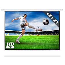 Schermo Proiezione Telo Motorizzato Videoproiettore Cinema Home Theater 4:3 HD
