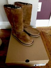 NEW UGG Classic Tall II ANIMAL boots Chestnut size 7
