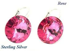 *STERLING SILVER* - RIVOLI - Rose Earrings made with SWAROVSKI Crystals