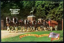 1976 Budweiser Beer Clydesdale team Clydesdales classic photo print ad