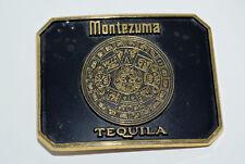 Vintage Montezuma Tequila Brass Belt Buckle