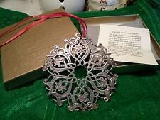 1994 Mma Sterling silver Snowflake Christmas Ornament