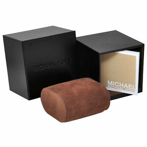 MICHAEL KORS AUTHENTIC BROWN WATCH BOXES WITH PILLOW AND MANUAL