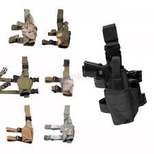 Tactical Pistol Gun Drop Leg Thigh Holster Pouch Bag Holder with Magazine Pouch