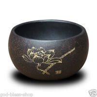 3oz marked tea cup lotus flower blossom handpainted real zisha yixing cup of tea