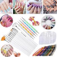 66 Nail Art Kit Professional 3D DIY Decoration Manicure Dotting Pen Supplies Set