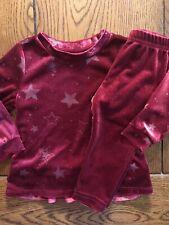 Gymboree Winter Star Outfit Girls Raspberry Sparkle Top & Pants EUC 12-18 Months