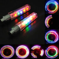 Top Bike Bicycle Car Motor Valve Caps Flash Light Tyre Tire Wheel Neon LED Lamps