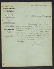 """AUXERRE (89) USINE d'INSTRUMENTS AGRICOLES & VIGNERONNES Charrues """"BAILLOT"""" 1889"""