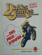 Prospectus Catalogue Brochure Moto Trophée Suzuki 1986