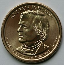 """Presidential Dollar Uncirculated Roll 25 /"""" D /"""" Mint #17 2011 Andrew Johnson"""