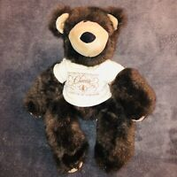 1985 Vintage Collectible Applause BrownBear Plush Stuffed Animal Chocolate Makes