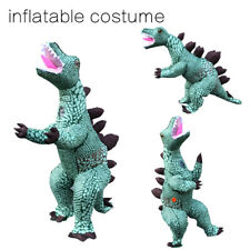 Christmas Stegosaurus Dinosaur Dress Inflatable Costume Adult Fancy Party Outfit