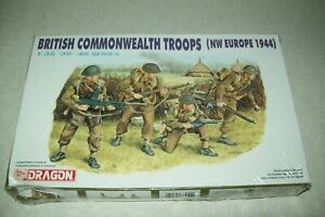DRAGON WW2 BRITISH COMMONWEALTH TROOPS, NW EUROPE  1944  1:35 scale  kit