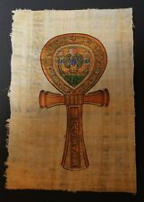 Egyptian Hand-Painted Papyrus Artwork: The key of Life (ANK)