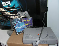 SONY AUDIOPHILE PLAYSTATION 1 PS1 CONSOLE +BITS +3 MUSIC GENERATING DJ BUNDLE