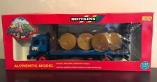 9591 BRITAINS 1:32 SCALE FLAT BED TRAILER AND BALES CONVERSION