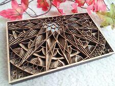 Wood Art Mandala, Spiritual Art and Home Décor, Housewarming Gift, Sacred Geomet