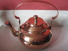 Antique Victorian large copper kettle with dovetailed joint No.10