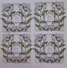 Die Cut Tattered Lace Joyful Jasmine Flower Scene Frame Card Topper