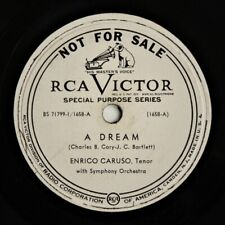 "ENRICO CARUSO ~ RCA SPECIAL PURPOSE 10"" vinyl ~ A DREAM / BECAUSE  78 rpm Good+"