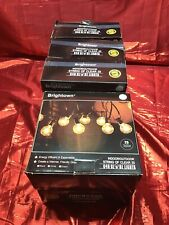 Lot of 5 25Ft G40 Globe String Lights with Clear Bulbs, Backyard Patio Lights