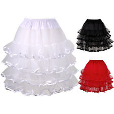 "3 Colour 22"" Womens Girls Ladies Ruffle Tiered Tutu Skirts Petticoat Pettiskirt"